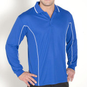quick dry long sleeve piping polo | wholesale