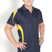 mens quick dry contrast polo | team uniform