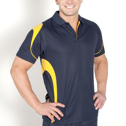 mens quick dry contrast polo | team uniform