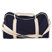 plain sports canvas bags | navy+natural
