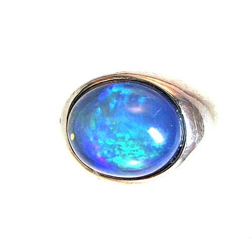 African Blue Opal Ring