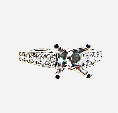 flawless diamond platinum semi-mount