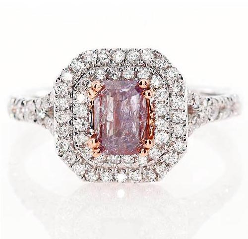 Fancy Purplish Pink Diamond Ring