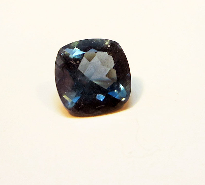 super dark aquamarine loose gemstone