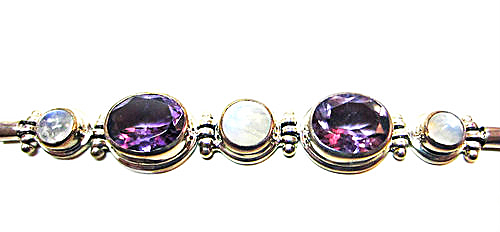 Amethyst and Moonstone Estate Bracelet