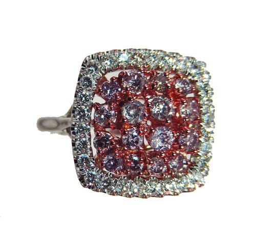 argyle purplish pink diamond ring