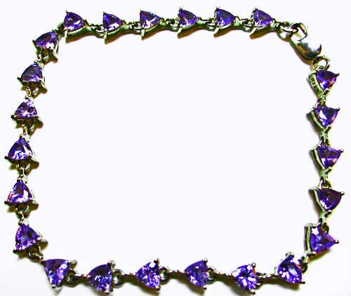 blue tanzanite bracelet