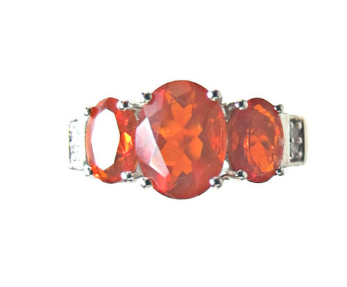 red fire opal ring