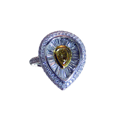 Fancy Deep Brownish Yellow Diamond Ring