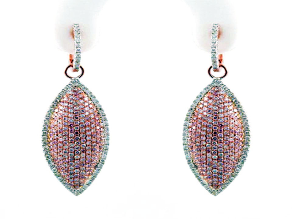 argyle fancy pink diamond earrings