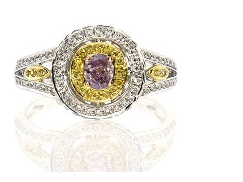 Argyle Pink Purple Diamond Ring