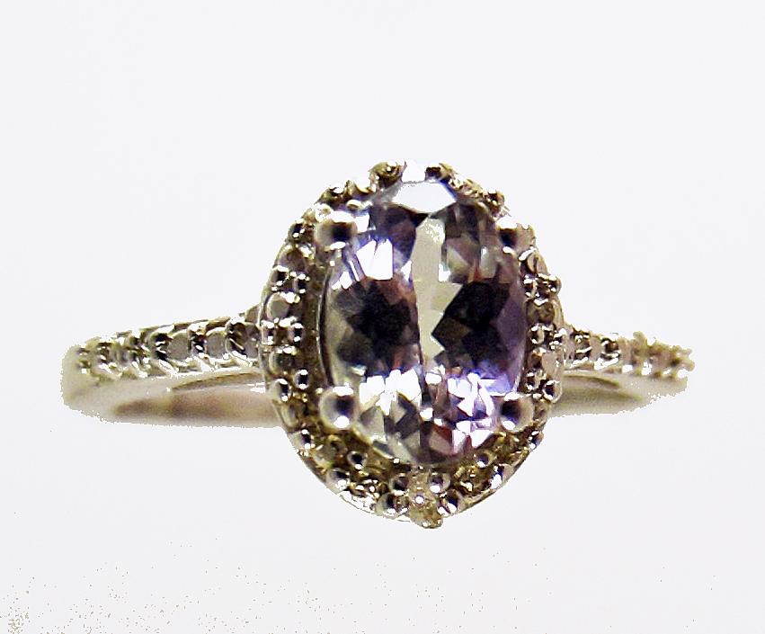 unheated tanzanite ballerina diamond ring