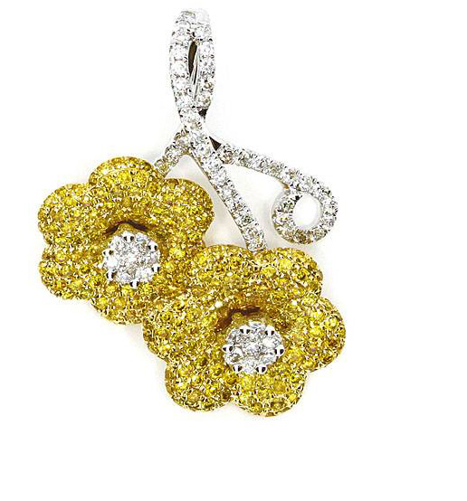 fancy yellow diamond pendant