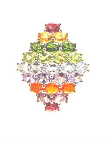 Multi gem ring