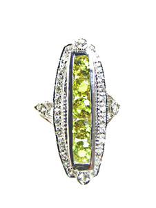 Yellow and White Sapphire Ring
