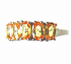 Orange Sapphire Band Ring