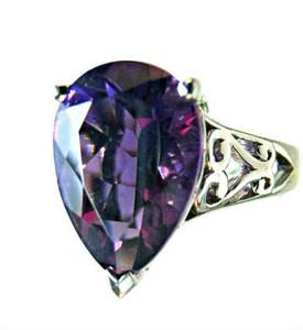 Siberian amethyst designer ring