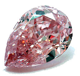 Argyle Fancy Intense Pink Diamond - Pear Shaped