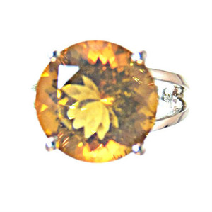 Dark Citrine Ring