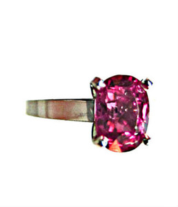 Tanzania Pinkish Red Spinel Ring