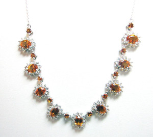Santa Ana Madeira Citrine (Oval) & White Topaz Necklace