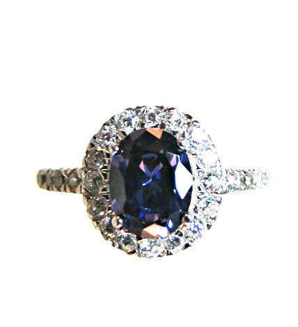 blue and white spinel