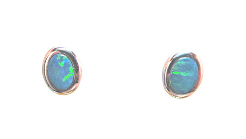 'Australia Opal Doublet Earrings'