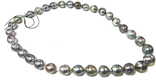 Silver Black Tahitian Pearls, unstrung