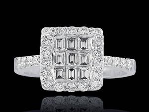 argyle white diamond cocktail ring