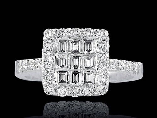 argyle white diamond cocktail ring
