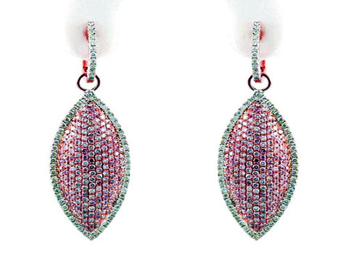 Argyle Mine Natural Pink Diamond Earrings - 18KT