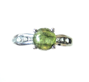 Labradorite and White Topaz Ring