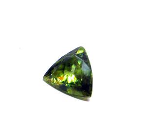 Green Sphene Loose Gemstone - Trillion Cut