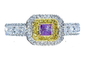 Australia Investment Grade Fancy Intense Pink-Purple Ring