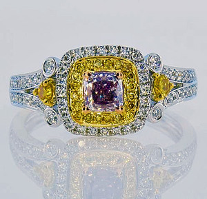 Natural Colored Diamond Rings