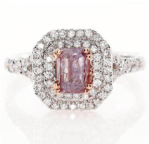 Argyle Fancy Purplish Pink & White Diamond Ring