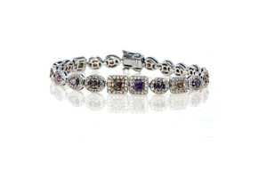 Natural Purple Diamond Bracelet