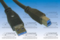 USB 3.0 Male A to Male B Cable 3'