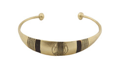 SALE Etched Bronze Bangle