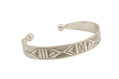 SALE Silver Tribal Bangle