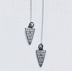 Triangle Threader Earrings