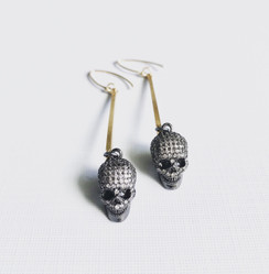 3D Skull Earrings