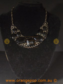 Stunning black fashion necklace