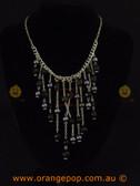 Unique black and grey fashion necklace