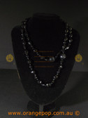 Beautiful black beaded fashion necklace
