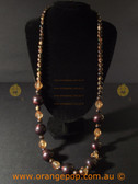 Long beaded fashion necklace