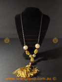 Tasselled featured fashion necklace