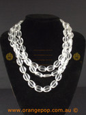 Clear beaded multi stranded necklace