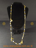 Mixed charms gold colour necklace