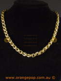 Gold colour chain linked necklace